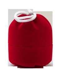 красный бархатный мешочек с деньгами