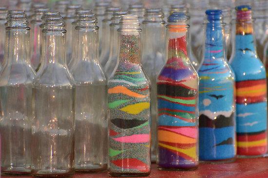 Бутылки с песком своими руками мастер класс