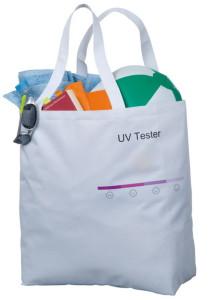 Стильная пляжная сумка с контроллером интенсивности УФ-излучения