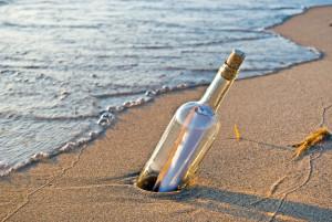 Романтическое послание в бутылке