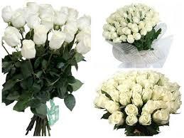 Варианты букетов цветов из белых роз