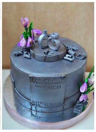 Торты на стальную свадьбу фото