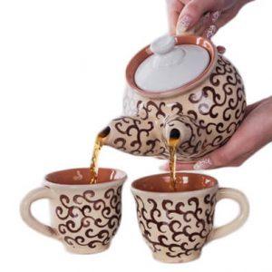 Чайник с двумя носиками