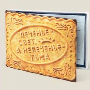 Обложка для студенческого билета в виде печенья
