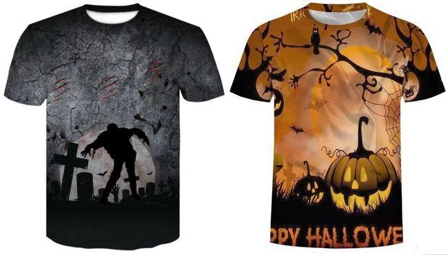 Тематические футболки на Хэллоуин